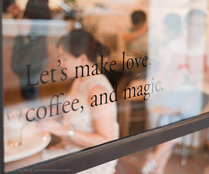 coffee, sign, and magic image