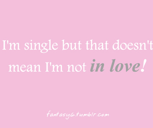 love, single, and text image