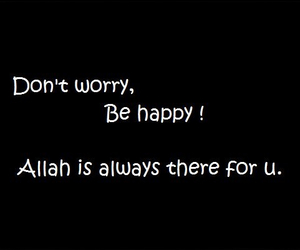 allah, black and white, and don't worry image