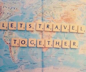 map, ocean, and together image
