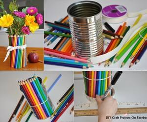 can, coloured pencils, and decor image