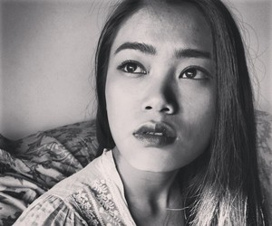 asian, asian girls, and black and white image