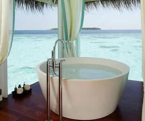sea, luxury, and bath image