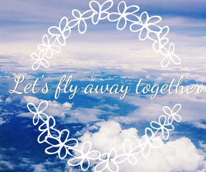 fly, sky, and love image