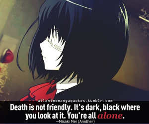 another, quotes, and anime image