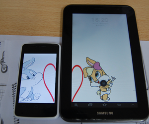 bunny, tablet, and ♥ image