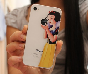 iphone, apple, and snow white image