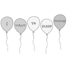 sleep, forever, and balloons image
