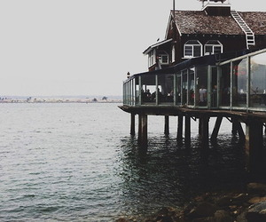 sea, house, and vintage image