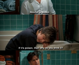 alcohol, poison, and two and a half men image
