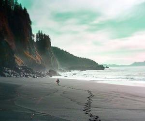 beach, line, and path image