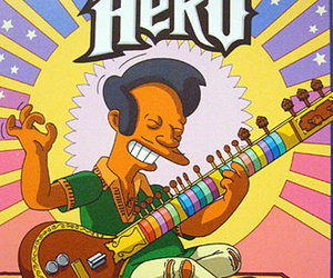 sitar, the simpsons, and guitar hero image