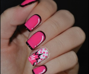 nails, pink, and comic image