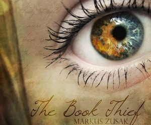 book, eye, and the book thief image