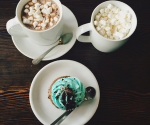 cake, coffee, and mint image