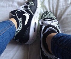 air max, white, and black image