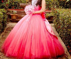 dress, party, and pink image