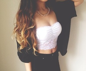 fashion, high waisted, and outfit image
