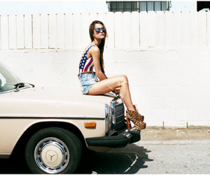 girl, car, and usa image