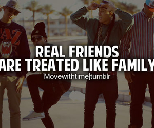 family, real friends, and friendship quotes image