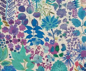 blues, flowers, and patterns image