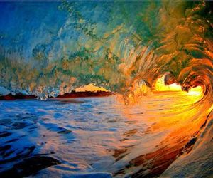 waves, water, and ocean image