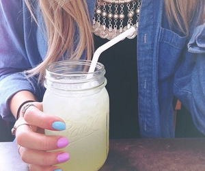 girl, summer, and nails image