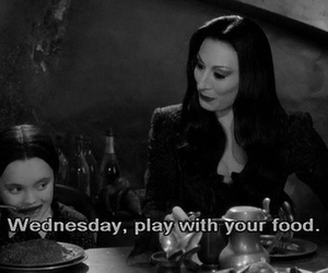 wednesday, addams family, and black and white image