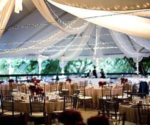 food, wedding reception, and garden decoration image