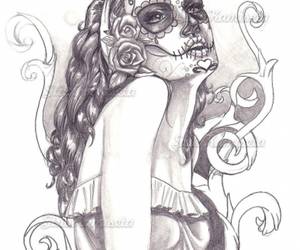 girl and sugar skull image