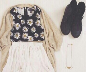 outfit, fashion, and cardigan image