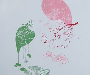 abstract, art printmaking, and branch image