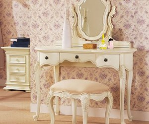 vintage, dressing table, and girly image