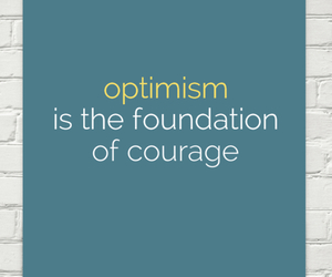 optimism, be happy, and courage image