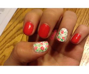 nails, rose, and accent nails image