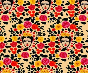 wallpaper, flowers, and Frida image