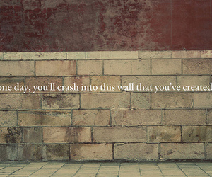 wall, text, and quote image