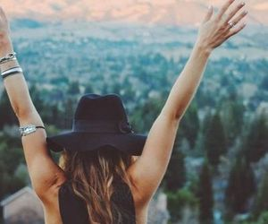 girl, free, and hat image