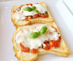 bruschetta, fit, and food image