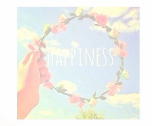 flower, happy, and sky image
