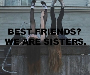 sisters, girl, and best friends image