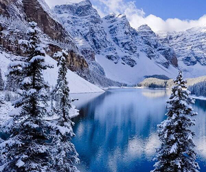 beautiful, canada, and winter image