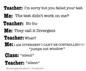 divergent, funny, and quote image