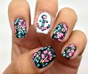 nails, flowers, and anchor image
