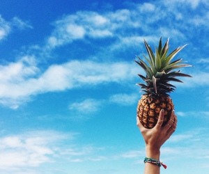 ananas, blue, and chill image