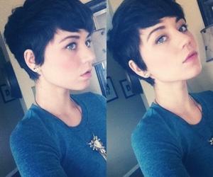 hair, short hair, and girl image