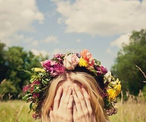 flower crown, summer, and tumblr image