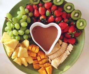 fruit, banana, and chocolate image