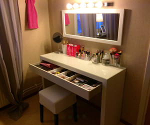 dressing table, girly, and ikea image