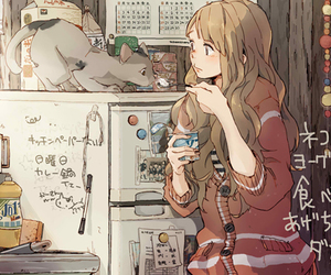 anime art, cute, and cats image